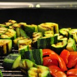 Nicely charred vegetables