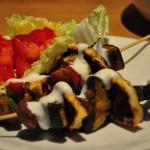 Halloumi kebabs in a tikka marinade